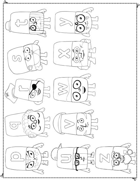 free coloring pages of alphablocks to a to z