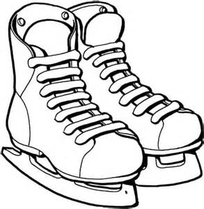 ice skates coloring free printable coloring pages