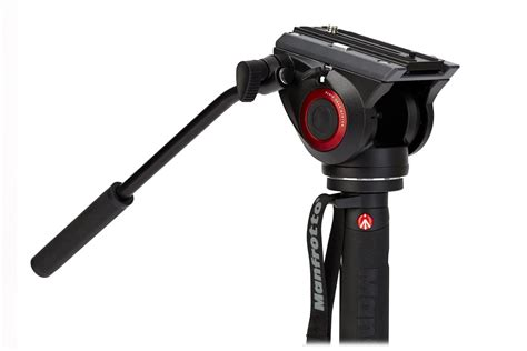 monopod with manfrotto xpro 4 section monopod with fluid