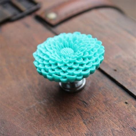 Turquoise Drawer Knobs by Flower Drawer Knobs In Turquoise More Colors