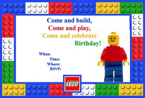 Boy Lego Birthday Card Template Word by Let S Panic Lego Birthday