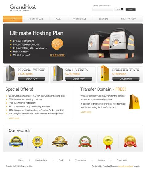 free hosting website template free hosting web template
