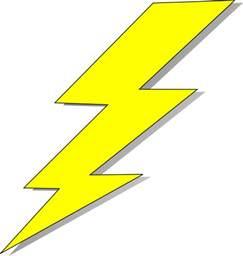 Lightning Bolt Transparent Lightning Bolt Clip At Clker Vector Clip
