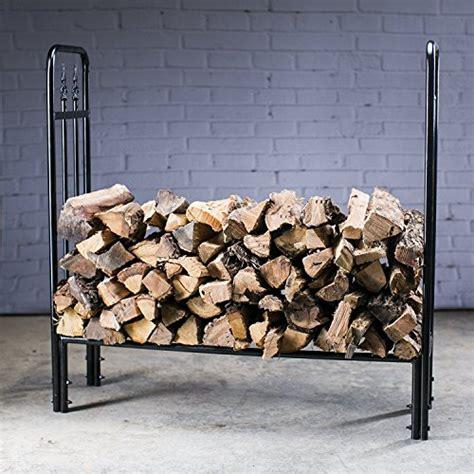 Metal Firewood Rack by Hio Heavy Duty Firewood Racks 4 Foot Indoor Outdoor Steel Wood Log Rack Holder With Finial