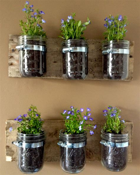 jar planters jar wall hanger planter