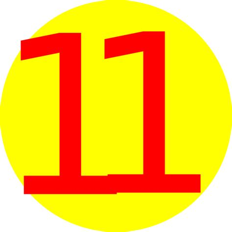 yellow round with number 11 clip art at clker com