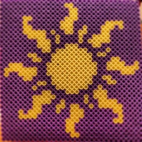 perler sun pin by cuthbertson on melty
