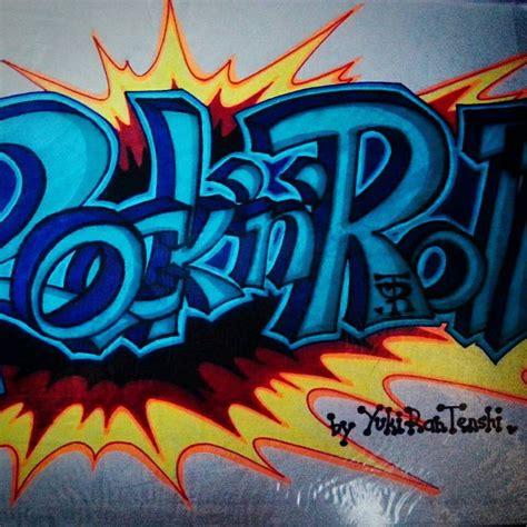 graffiti wallpaper rolls old graffity rock n roll by leenjay illustrator on deviantart