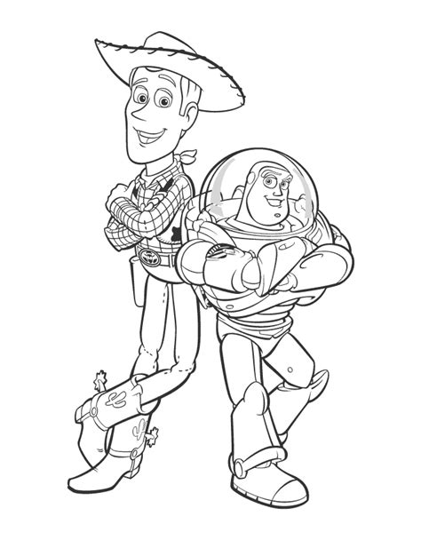 buzz and woody coloring pages coloring home