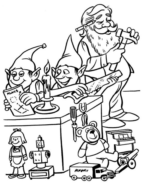 coloring pages christmas elves elves and santa christmas coloring pages for kids