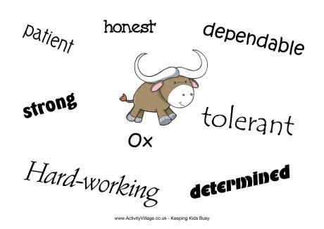 new year monkey qualities ox characteristics poster