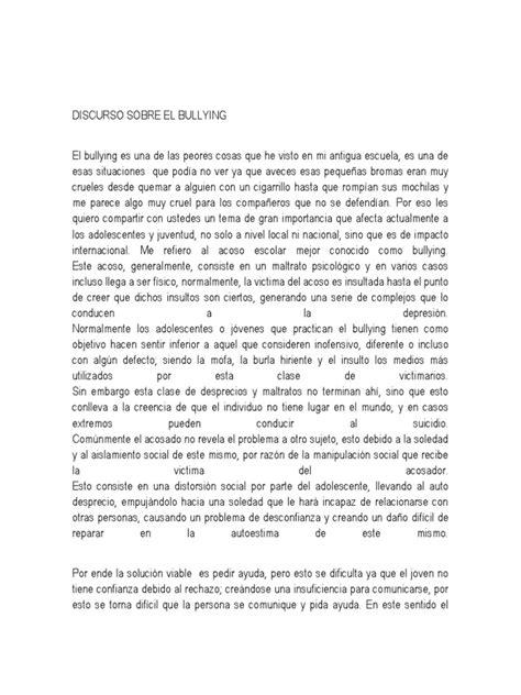 ejemplos de bulling newhairstylesformen2014 com discurso sobre el bullying