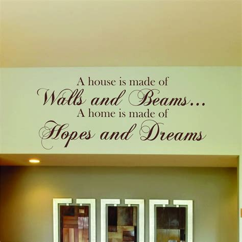 hopes dreams wall sticker quote home vinyl kitchen