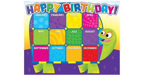 jingle jungle birthday chart sc 553096 scholastic