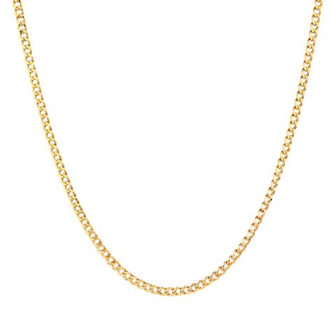55cm 22 quot curb chain in 10kt yellow gold