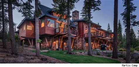 truckee cabin is rustic on the outside futuristic on the