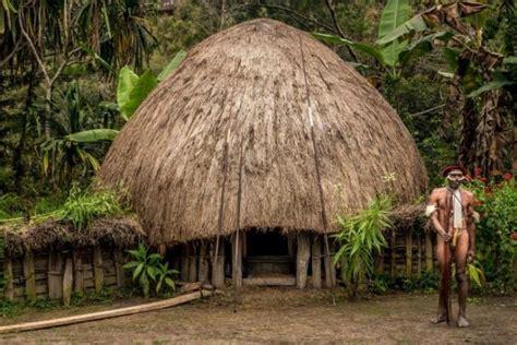 rumah adat papua honai  penuh  keunikan
