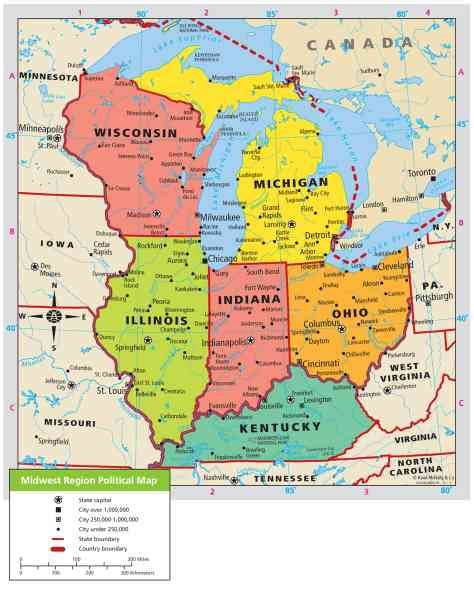 map of midwest states map of midwest region holidaymapq