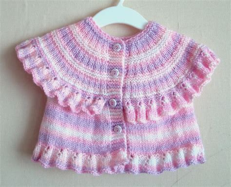 vest knitting pattern free knitting pattern for ruffle baby vest craft http