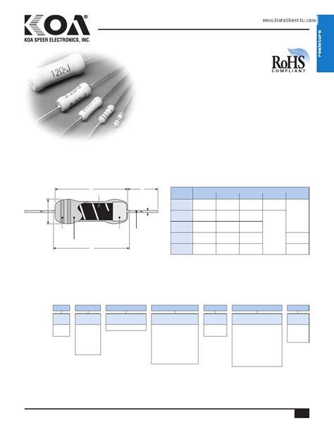 metal oxide resistor pdf metal oxide resistor datasheet 28 images rsf200jb 10r yageo rsf200jb 10r datasheet page 2
