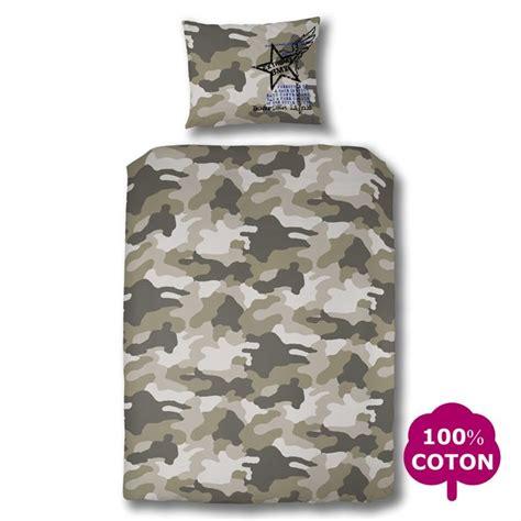 Housse De Couette Militaire by Parure De Couette Cocon Blanc Camouflage Kaki Achat