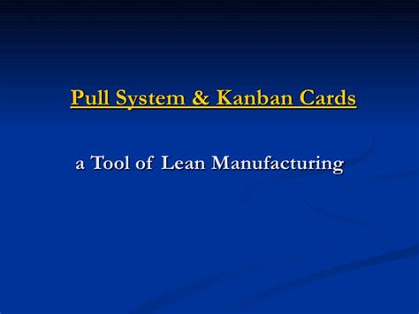 Gift Card Systems - kanban cards pull systems