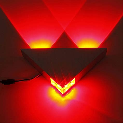 3w led triangle wall light up indoor sconce l