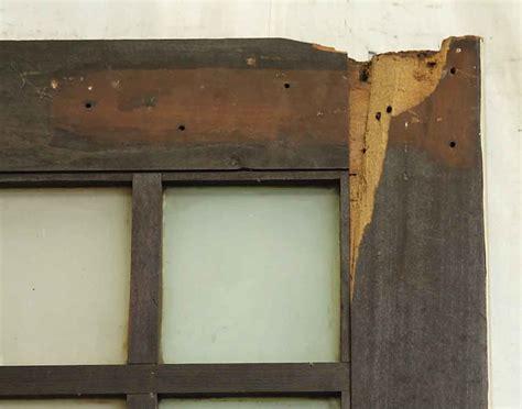 swinging wood doors 83 in h six glass panes swinging wood door olde good things