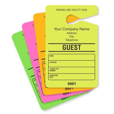 Guest Parking Passes Customize Online Printable Parking Pass Template