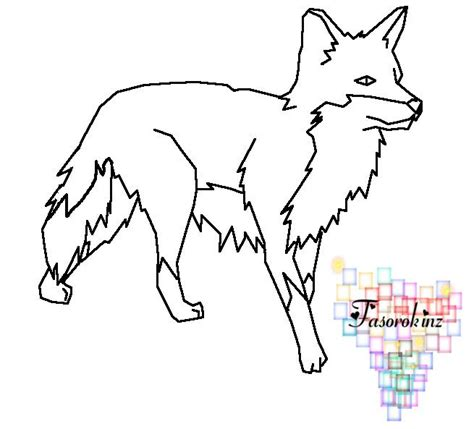 template of a fox fox template by queenyami january preschool winter