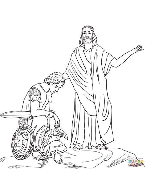 coloring page jesus heals centurion s servant jesus heals the centurion s servant coloring page free