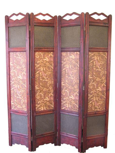 Room Seperator by Room Divider Screen 4 Panel Wooden Frame Ebay