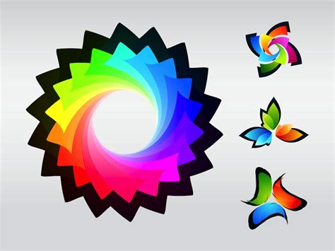 colorful logos colorful logos vector graphics freevector