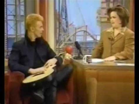 Pop Nosh The View Now Rosie Free Popbytes 8 by David Bowie Rosie O Donnell Show 1997