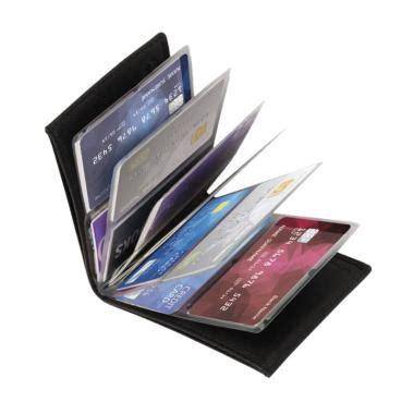 Card Holder Murah 24 Slot Card 1 Slot Money Black jual tas dompet kulit pria branded original murah