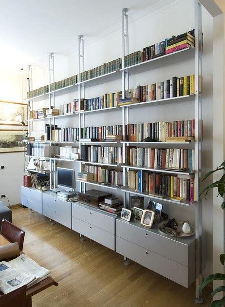 libreria kriptonite scaffale bifacciale componibile in alluminio k2 libreria