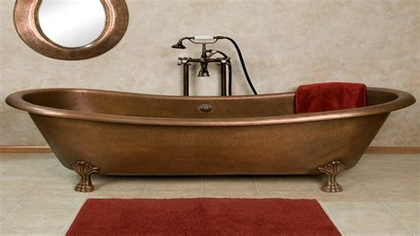 double slipper bathtub 6 foot bathtub copper double slipper clawfoot tub