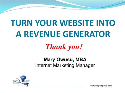 Mba In Revenue Management by Turn Your Website Into A Revenue Generator