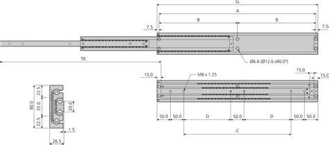 Schubladen Auszugsschienen by Accuride Da4160 Schwerlast Teleskopschienen 100