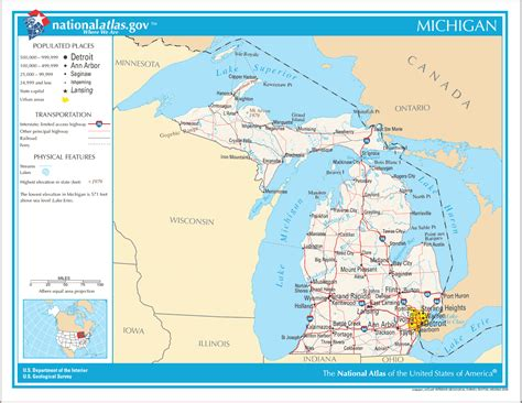 united states map michigan map of michigan na mapsof net