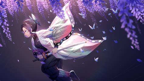 demon slayer shinobu kochou  sword  purple
