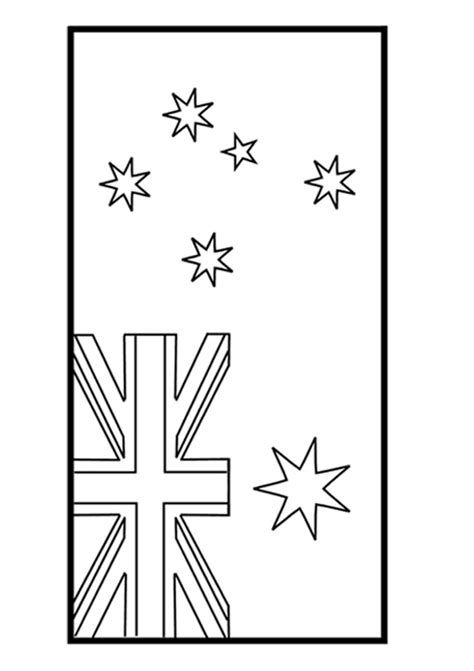 australian flag template to colour free australian flag colouring page activity