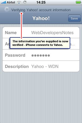 email yahoo on iphone get yahoo email on your iphone instructions with screenshots