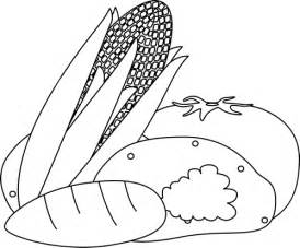 black and white vegetables clip art black and white
