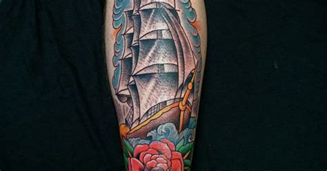 wooster street tattoo clipper ship by luke wessman done at wooster