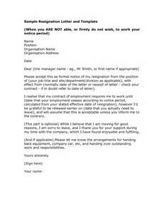 Support Letter Doc Resignation Letter Exle Formal Resignation Letter Template Writing Thank You Sles