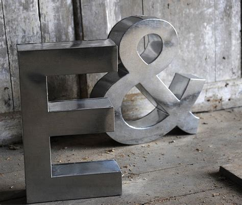 metal letters industrial metal letter by letteroom notonthehighstreet com