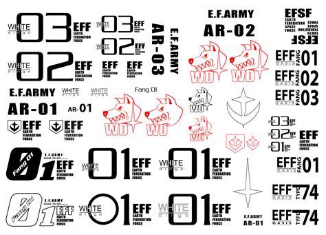 Gundam Stickers