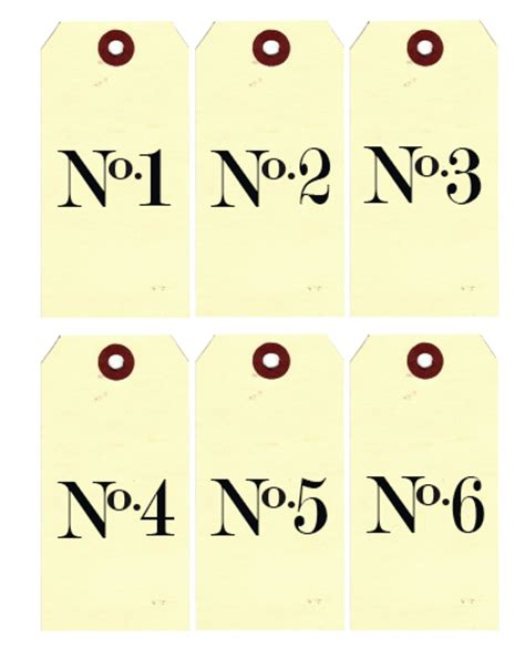 Printable Number Label | gallery printable vintage table numbers