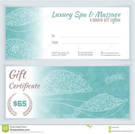 spa gift certificate template free spa gift certificate template word best and various